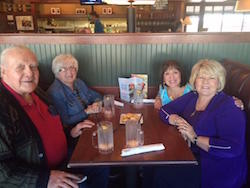 Dinner with friends Bob and Lila Terhune and Pastor Brenda before the Glory Night at CHP