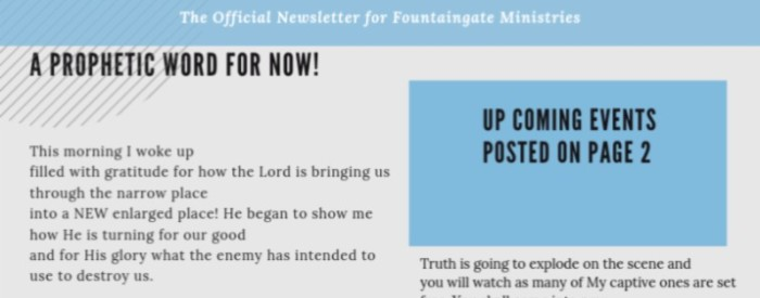 FountainGate International | Prayer | Power | Presence
